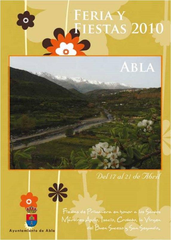 PROGRAMA DE FIESTAS ABLA 2010