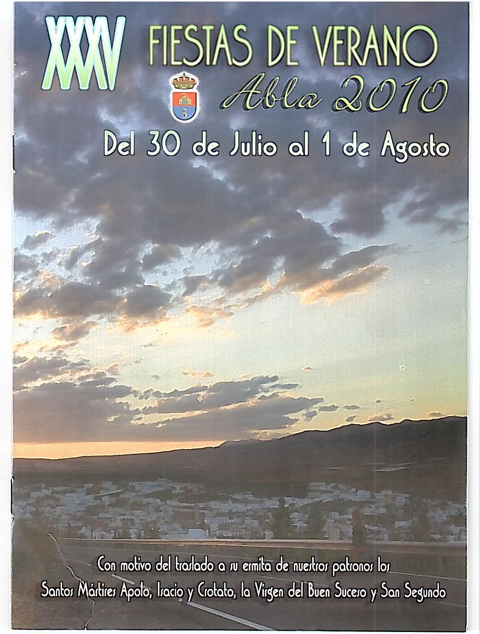 PROGRAMA DE FIESTAS VERANO  ABLA 2010