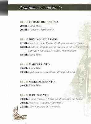 PROGRAMA SEMANA SANTA ABLA 2011